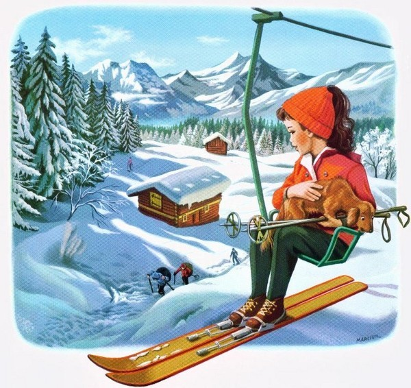 telesiege manigod vacances neige