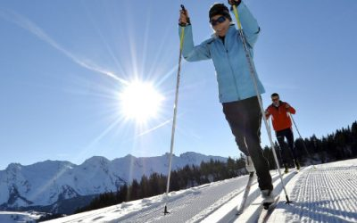 Ski de fond dans les Aravis, proche du Fraizier